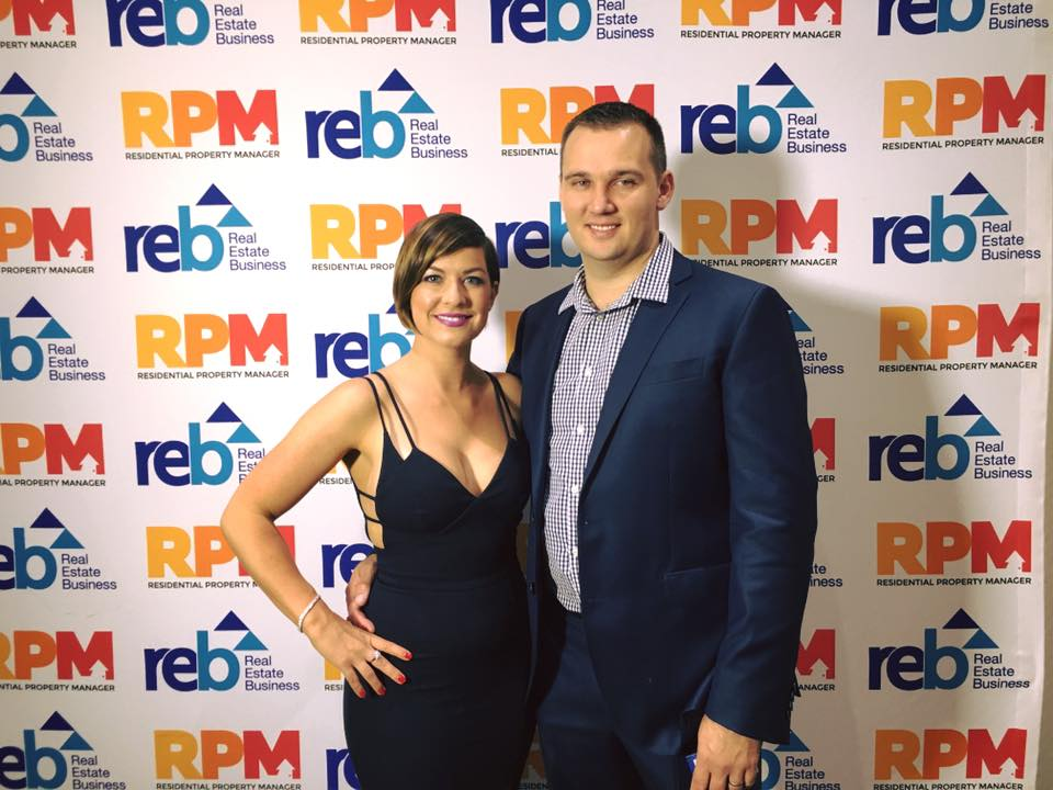 Emmy with husband and business partner, Tye after being named in the top 50 real estate businesses in Australia. Mighty effort!!