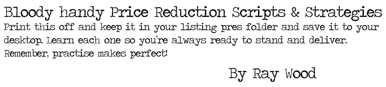 Real Estate Price Reduction Scripts and Strategies