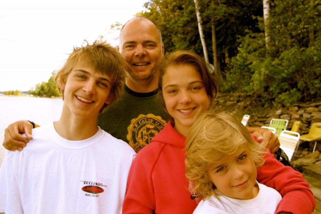 Me with Sam, Tori and Charlie on 4 Mile Lake Ontario