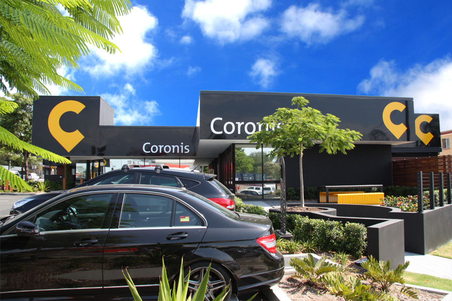 Strong colors enhance the updated Coronis brand