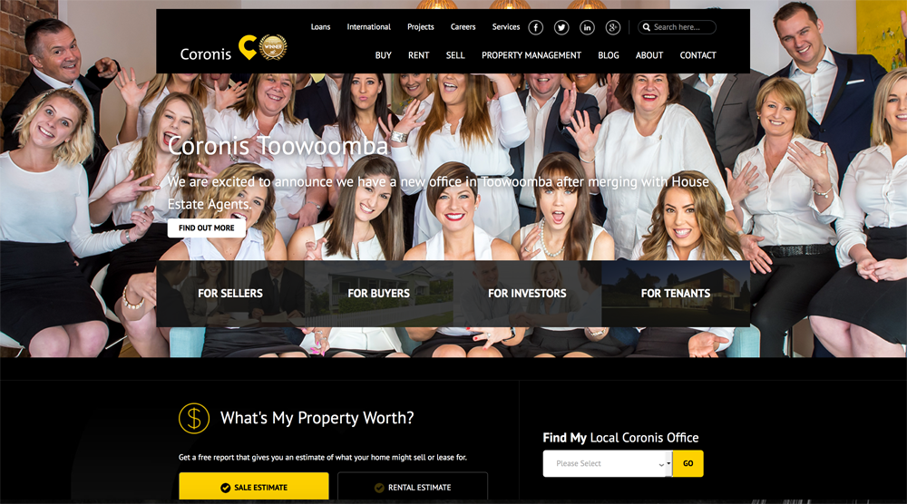 The new Coronis online platform is the new benchmark for real estate websites