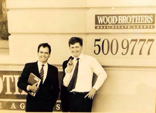 With my brother David (right) in January 1990 at our office in Armadale (Victoria). We had no idea what was coming.