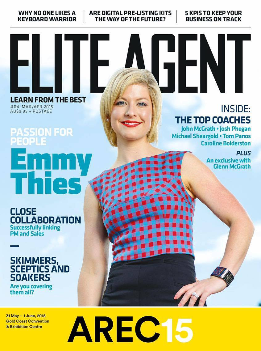 Rising Star! Gracing the cover of Elite Agent magazine in 2015