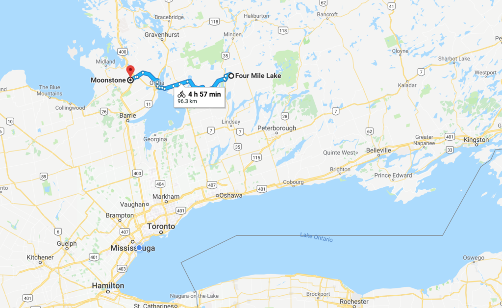 I was in my truck during this episode and I promised to show you where exactly I was going from and to. It's a gorgeous 70 minute drive in rural Ontario just north of Toronto.